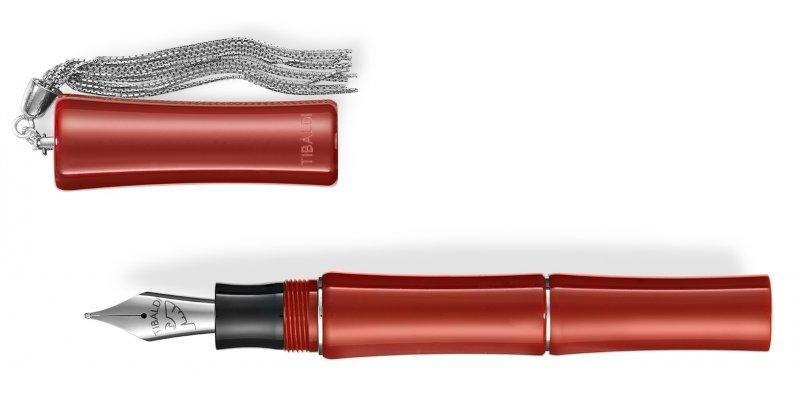 Tibaldi Bamboo Stilografica Rossa